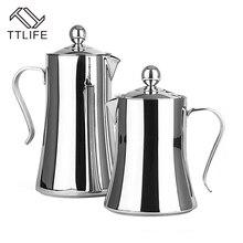 TTLIFE 2017 Hight Qualität 1L/1.2L Kaffeemaschine 304 Edelstahl Französisch Presse Kaffee Teekanne mit Filter Doppel wand