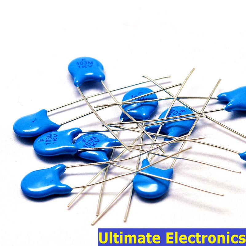 20pcs 10nF 103 1KV 0.01uF High Voltage Ceramic Disc Capacitor