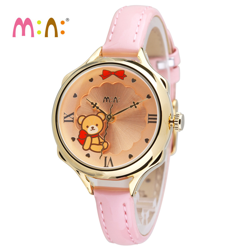 Reloj Mujer Luxury Brand Women Watches Waterproof 3D Bear Ladies Watch Bracelet Quartz Wrist Watch Woman Clock Relogio Feminino weiqin luxury gold wrist watch for women rhinestone crystal fashion ladies analog quartz watch reloj mujer clock female relogios