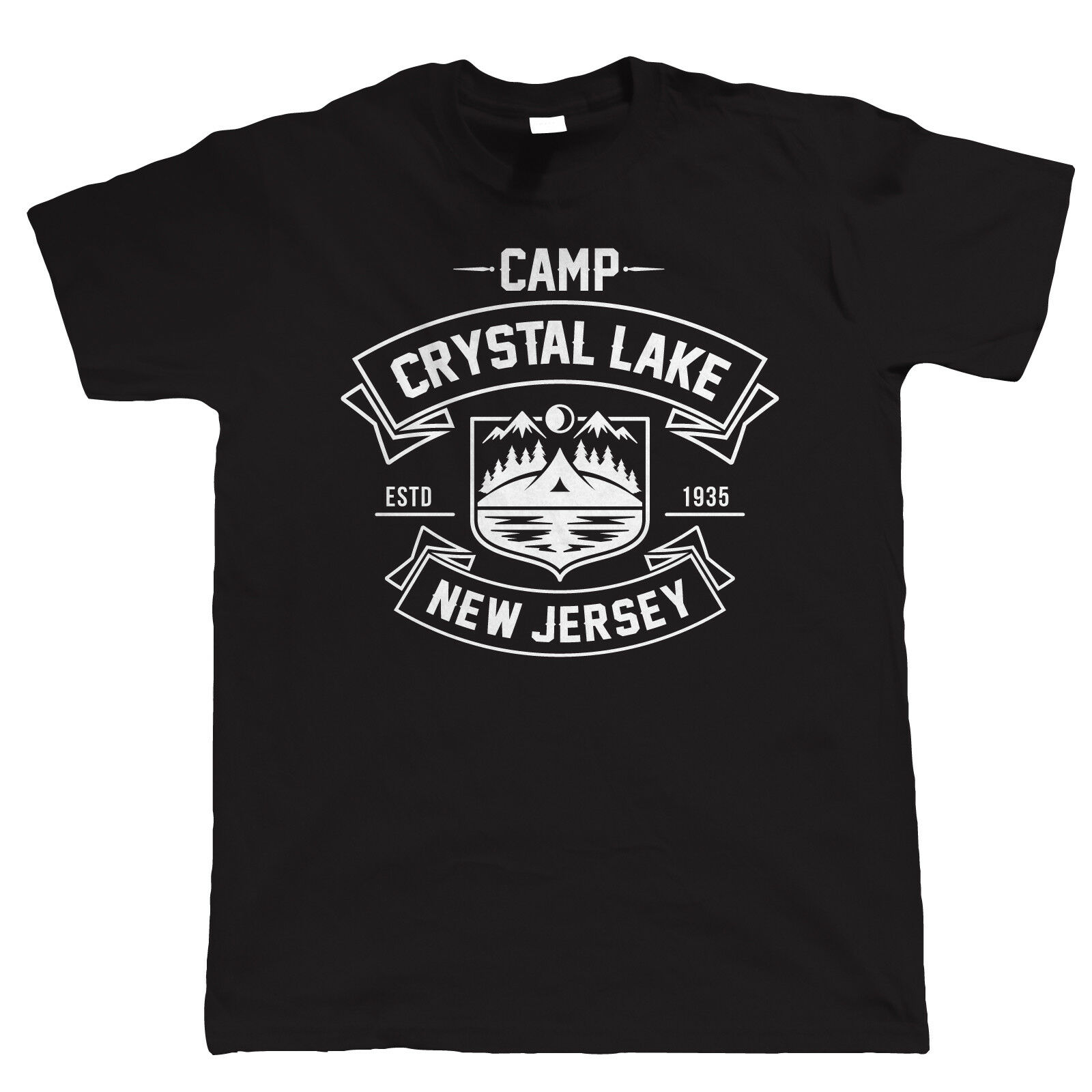 Camp Crystal Lake Mens Horror Movie T Shirt - Halloween Costume Fancy Dress 2019 New Fashion Summer Men'S Short T Shirts image