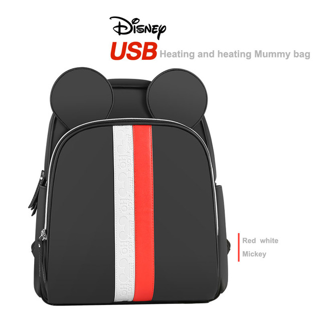 Disney Multi-function Bottle Feeding Insulation Bag With USB Mother Nappy Bags Baby Care Nappy Changing Bag 3