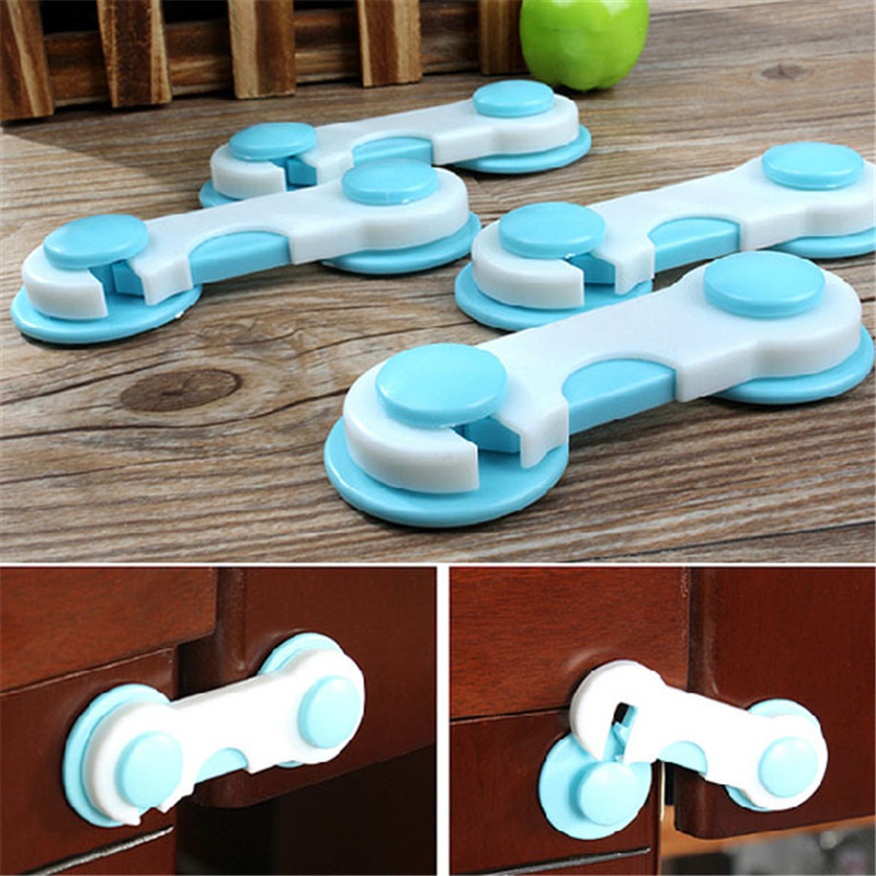 5pcs/Set Plastic Safety Cabinet Door Children Kids Drawer Cabinet Lock Protection Baby Care Safe Lock Baby Protection Straps