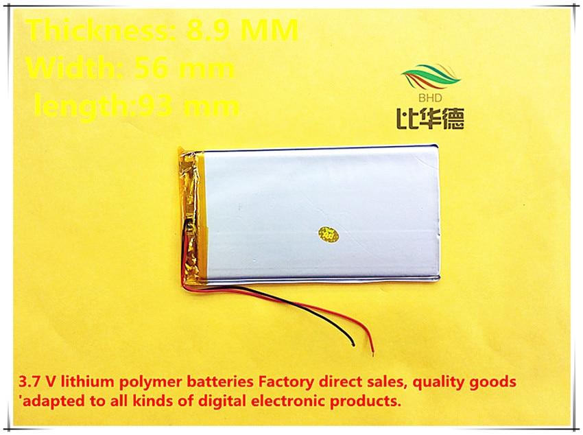 (freies Verschiffen) Polymer Lithium-batterie 5800 Mah 3,7 V 895693 Kann Angepasst Werden Großhandel Ce Fcc Rohs Msds Qualität Zertifizierung
