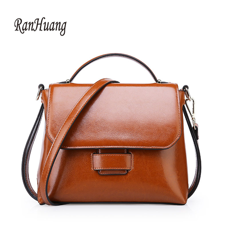 RanHuang New 2017 Luxury Handbags High Quality Women Genuine Leather Handbags Small Shoulder Bags Women's Vintage Messenger Bags