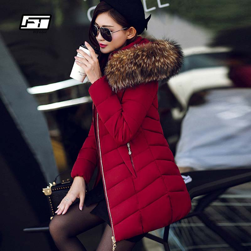 Fitaylor Women Winter Jacket  2017 New Warm Parkas Female Overcoat Outerwear Hooded Cotton Coat plus size Long Thick Parka bben z10 tablets windows 10 intel cherry trail z8350 quad core 4gb ram 64gb rom hdmi tablet pcs