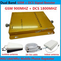 High gain Dual band signal booster GSM 900 1800 home/office SIGNAL repeater kit amplifier Dual signal band +  antennas + cable
