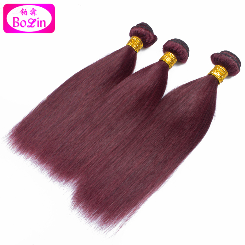 #99j brazilian hair straight hair weaves red wine 99j brazilian hair weave bundles brazilian virgin hair straight bundles