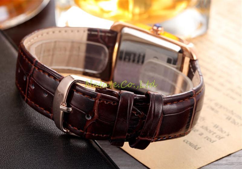 NATATE Men Waterproof Business Casual Zegarki Mężczyźni Luksusowa - Męskie zegarki - Zdjęcie 6