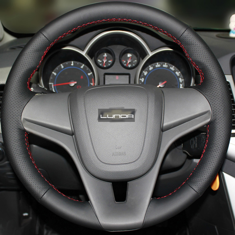 Black Artificial Leather Steering Wheel Cover for Chevrolet Cruze  Aveo Orlando