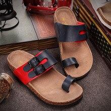 CoolFar Cork Sandals 2016 New Women Summer Beach slippers Men Buckle Strap Sandals lovers beach Shoes,flips flops beach men