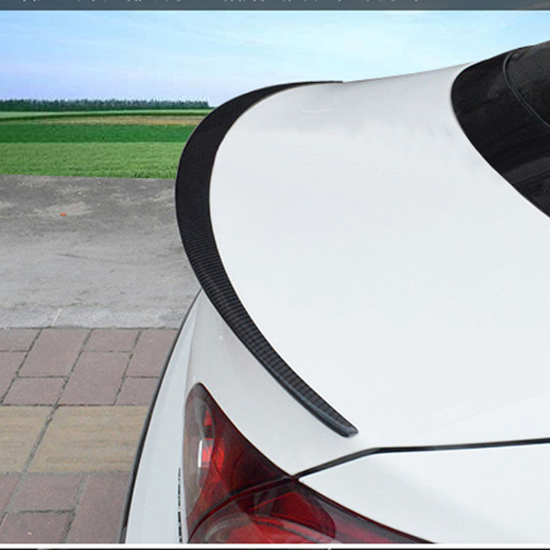 цена на Carbon Fiber Car Rear Trunk Spoiler Boot Lip Wing for Volkswagen VW Passat CC Sedan 4-Door 2008-2012 V style