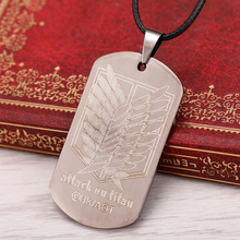 Attack on Titan Titanium Metal Necklace Pendant