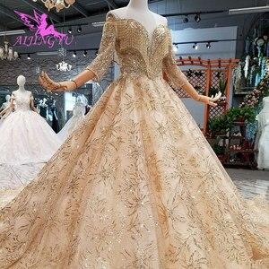 Image 2 - Aijingyu 구매 웨딩 드레스 두바이 가운 핫 온라인 파티 의류 수입 가운 중국 웨딩 드레스