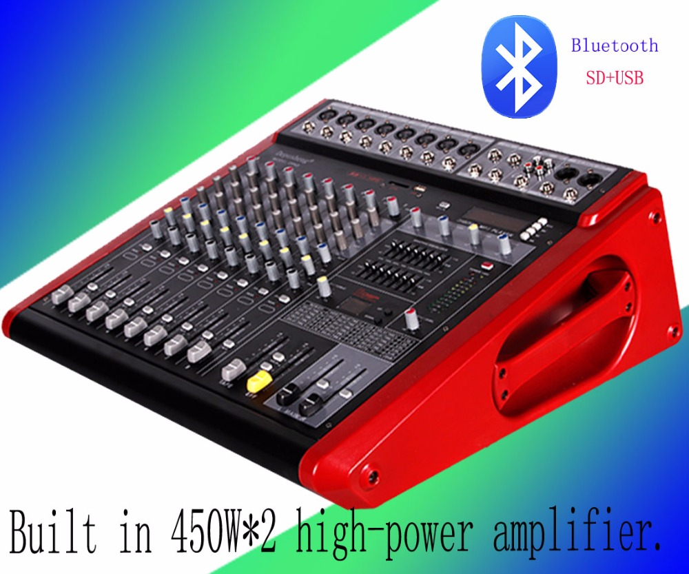 DPA8 professional mixer with amplifier performance 8-way conference room U disk MP3 dual reverberation balance dpa st2011c