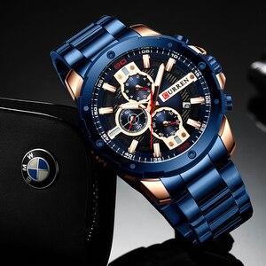 Image 4 - CURREN Horloges Mannen Roestvrij Stalen Band Quartz Horloge Militaire Chronograaf Klok Mannelijke Fashion Sportief Horloge Waterdicht 8336