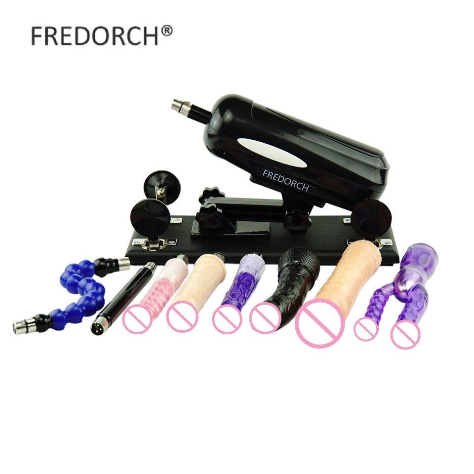 FREDORCH Sex Shop 8 accessoires gode pour homme et femme articles érotiques pistolet de pompage réglable Machine d'amour