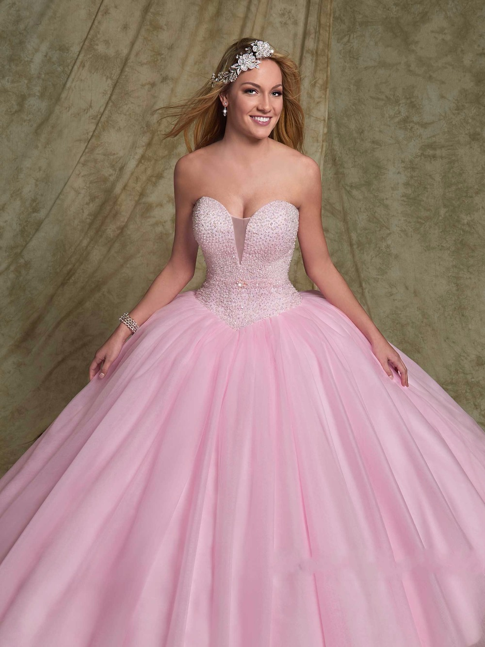 Pink Non White Colorful Ball Gown Wedding Dresses With Jackets ...