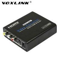 VOXLINK AV/SV để HDMI Chuyển Đổi Composite video/S-video và stereo audio sang HDMI 4 K x 2 K 60 HZ upscaler Hộp Chuyển Đổi