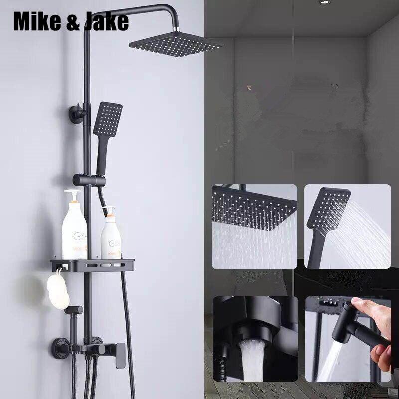 Ensemble de douche noir pur avec bidet douche salle de bain ensemble de douche bidet blanc robinet de baignoire blanc ensemble de douche bidet MJ986