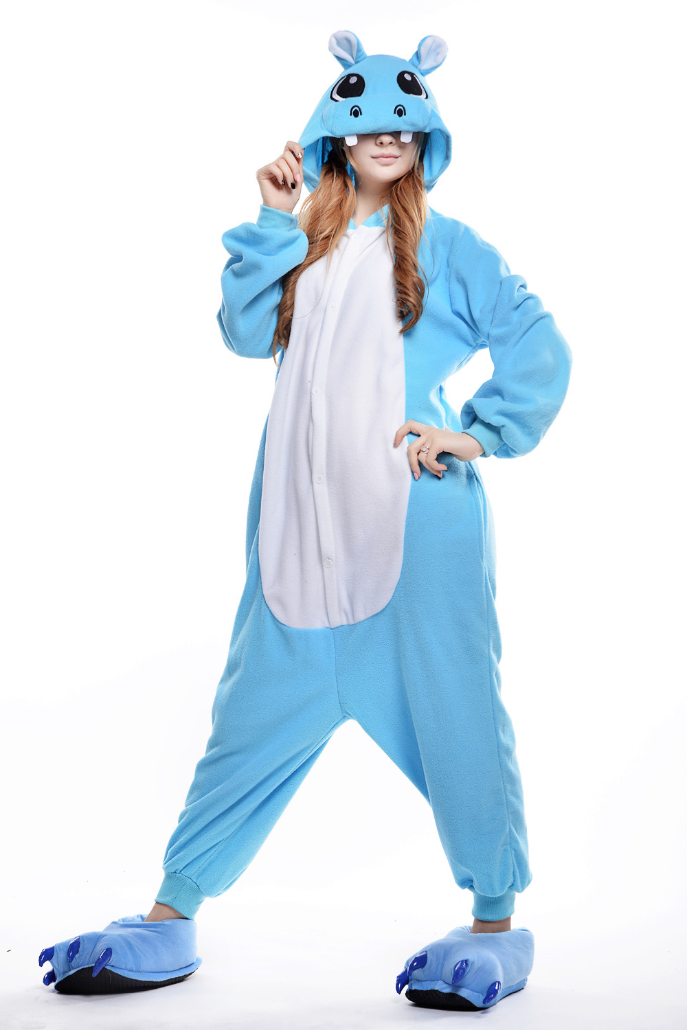 Halloween Afkomst.Us 28 99 Cartoon Gloria Pyjama Nieuwste Hippo Motomoto Animal Cosplay Onesie Halloween Kostuum Afkomst Kleding En Lovers Kleding In Cartoon Gloria