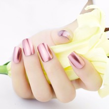 Honey Joy 1pc Pink Color Metallic Mirror Effect Soak Off Nail Polish Metal Lacquer 8ml Long Lasting Nail Art Top Manicure Tools