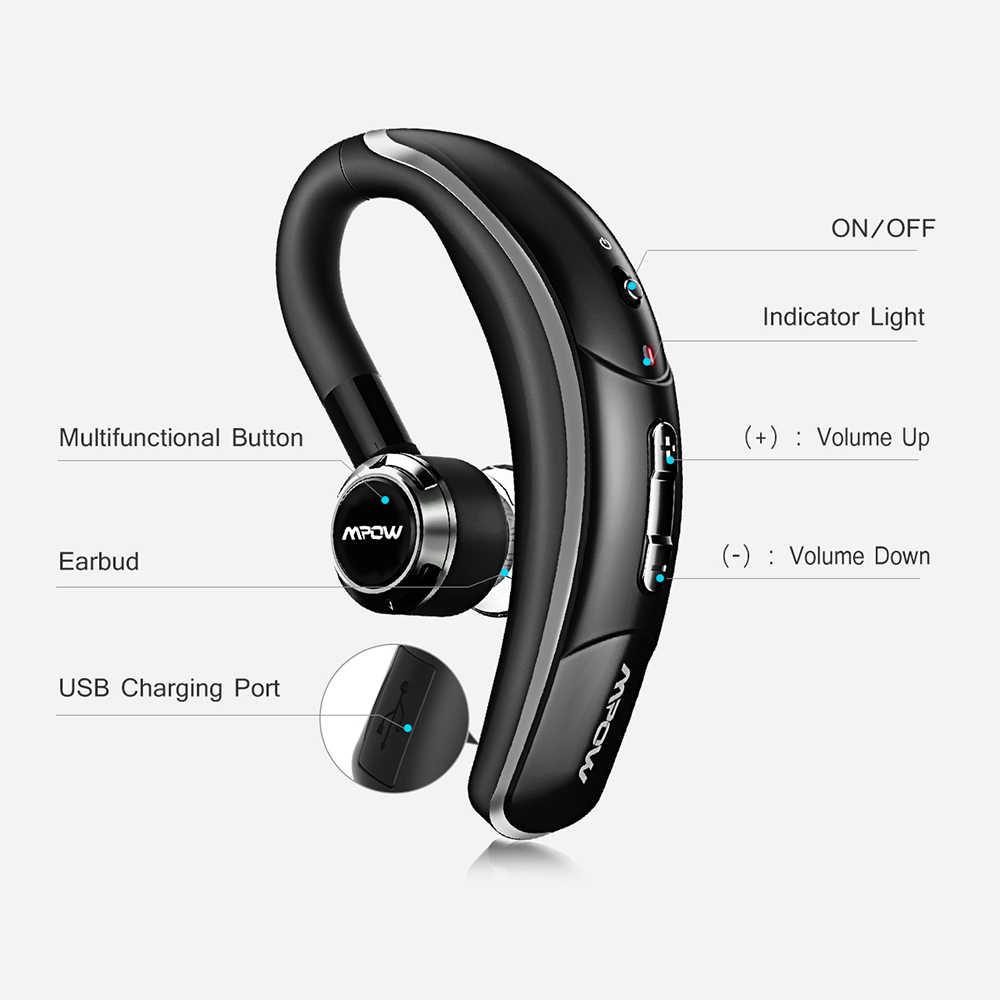 e1a227ff36e ... Mpow BH028 Bluetooth 4.1 Earphone Single Wireless Headphone 280Hrs  Standby Handsfree Bluetooth Earpiece With Mic For ...