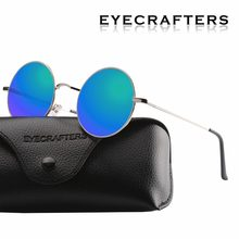 713cdec9573 New Brand Designer Classic Polarized Round Sunglasses Women Driving Metal Eyewear  Men Small Vintage Retro John Lennon Glasses