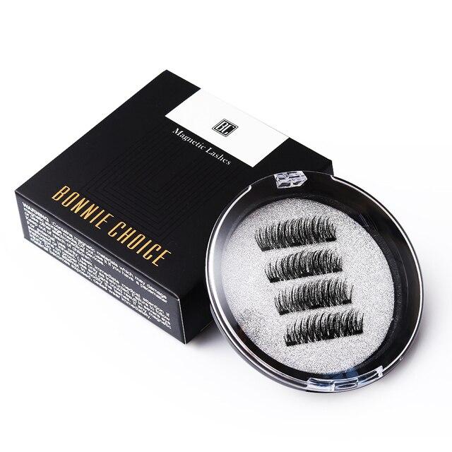 9fc8c11b544 BONNIE CHOICE 3D Magnetic Eyelashes with 3 Magnet False Eyelashes Handmade  Eye Lashes 4Pcs Eye Makeup Kit-in False Eyelashes from Beauty & Health on  ...