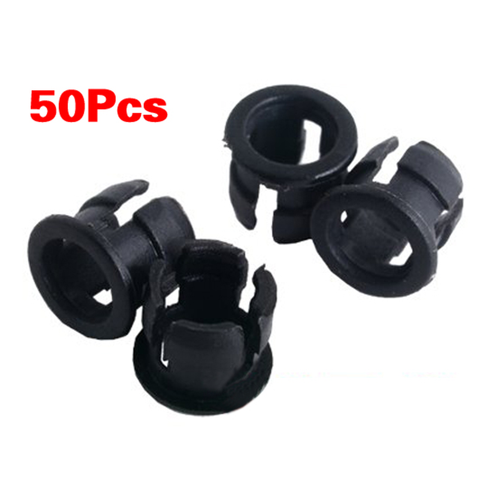 THGS 50 5mm Black Plastic LED Holder Case Clip Display Panel