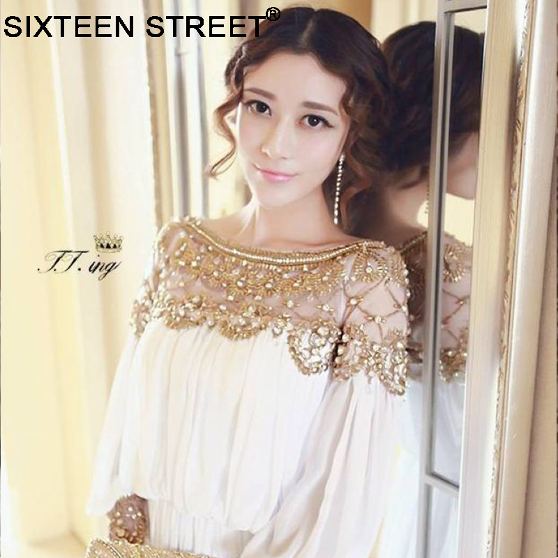 2018 women new fashion elegant vestidos formal korean runway white pink party long maxi spring summer dress long sleeve autumn