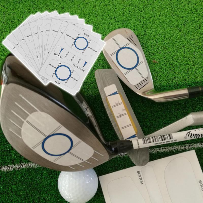 10 Sets Impact Tapes Labels Recorder Kit for Woods Irons Putter Practice