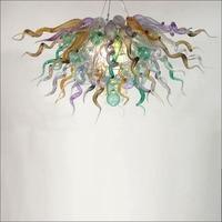 New fantasia Mão Lustre De Vidro Soprado luz do candelabro de vidro soprado para Casa Nova Decoração Da Casa