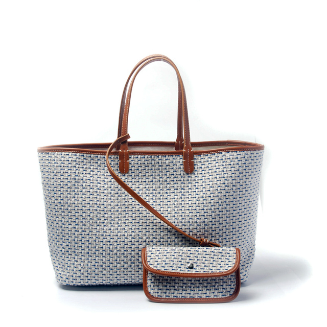 Check Tote Bag Wholesale Blanks White Dot Jacquard Woven Plaid Purse Lady  Handbag with Removable Clutch DOM106816 612bc5331a27c