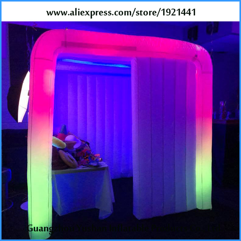 New Design Led Strip Inflatable Photo Booth Enclosure In
