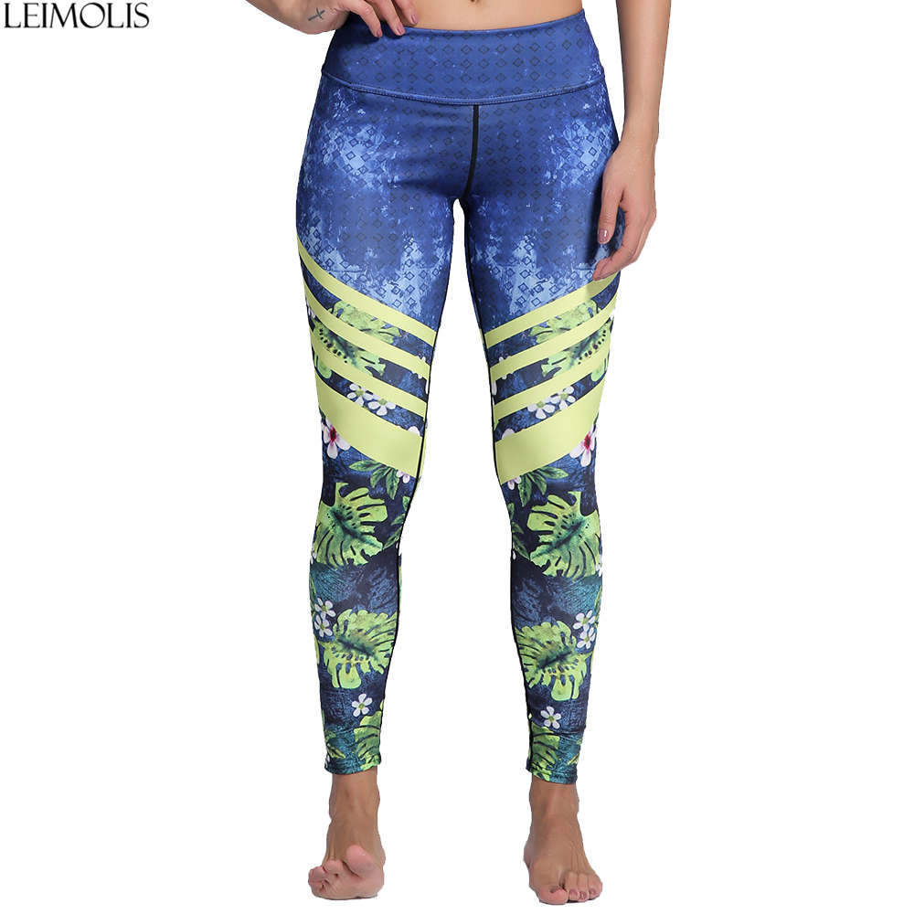 LEIMOLIS Jungle Stripe Cherry Pink Ins Cool Print Harajuku High Waist Workout Push Up Plus Size Fitness Leggings Women Pants