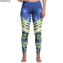 цена Leimolis 3D print Jungle Spring Flower winter Harajuku adventure time workout push up plus size fitness leggings women pants онлайн в 2017 году