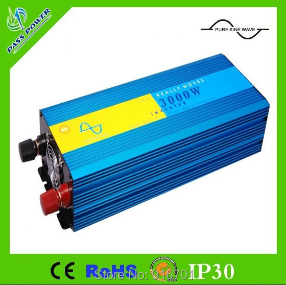 Off grid Digitale Dispaly inverter <font><b>12v</b></font> <font><b>230V</b></font> <font><b>230v</b></font> 3000w (peak 3000 w) reine sinus welle inverter konverter image