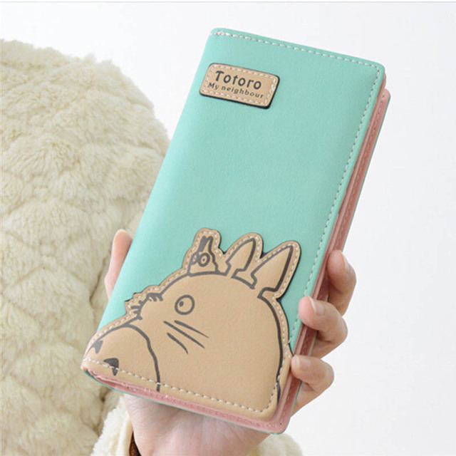 Fashion My Neighbor Totoro Women Wallets Cartoon Card Holder Coin Purse Zipper & Hasp Clutch Long Wallet Dollar Price