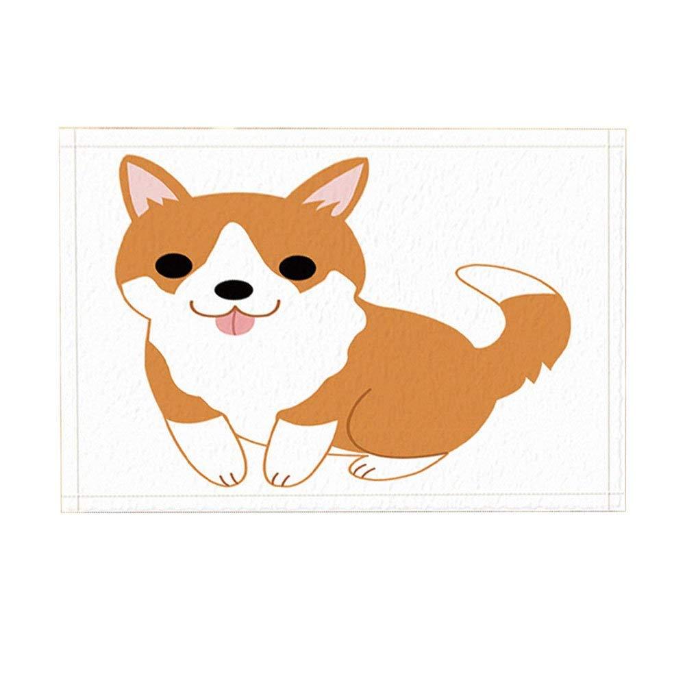 Antislip Dier Deurmatten Door, Kinderlijke Shiba Lnu Leuke Bruine Hond Baby Witte Achtergrond Indoor/outdoor Deurmat