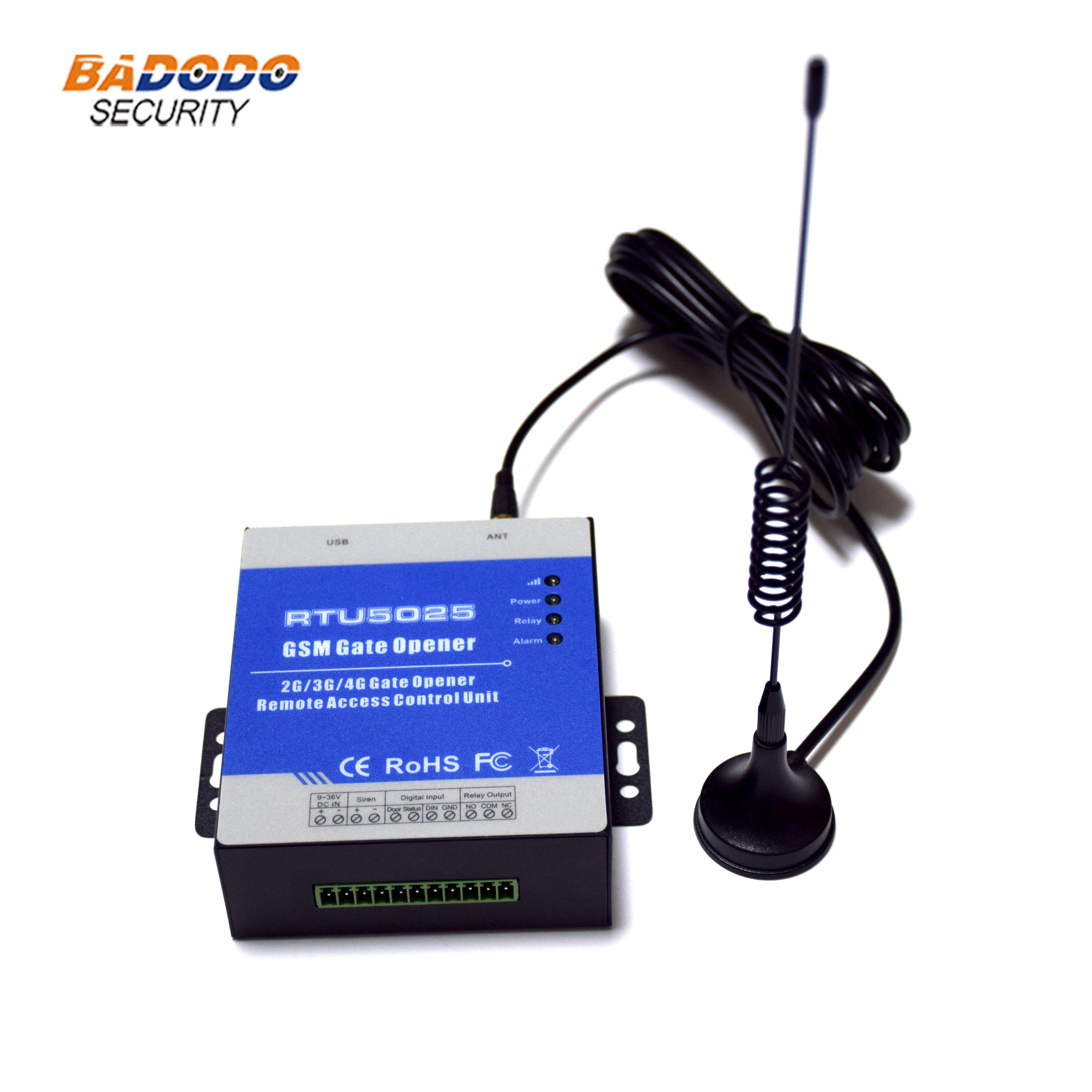 Inalámbrico 2G GSM GPRS 3G 4G abridor de puerta RTU5025 Control de acceso remoto Unidad de encendido/apagado para Control de acceso remoto