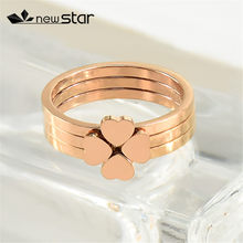 Four - leaf clover rose gold แหวน(China)