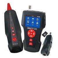 RJ45 RJ11 BNC коаксиальных сети W/Бесплатная TF карты ручной кабельный тестер Провода Tracker кабеля Длина тестер STP/ UTP 5e, 6e Ethernet тестер