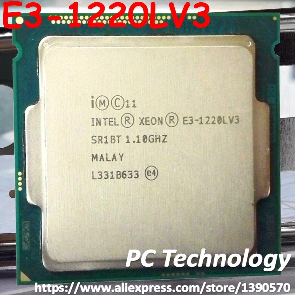 Original Intel Xeon desktop processor E3 1220LV3 4M 1 10GHz Dual core E3 1220L V3 E3
