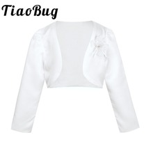 1-9 Years Little Kids Girls Infant Babies Flower Girls Bolero Jacket Shrug Coat Wedding Princess Birthday Party Jacket Wrap cheap TiaoBug Polyester Appliqued Children Bridal Wraps Girls Coat 12M 18M 24M 3-9years old kids children