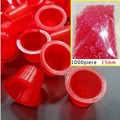 2014HOT SALE RED 1000pcs Plastic Tattoo Ink Cups Caps  #15 Large Tattoo Supplies Free Shipping