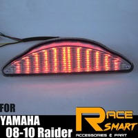 Motorcycle LED Rear Tail Light For YAMAHA Raider 2008 2010 Integrated Turn Signals Brake Lamp Taillight 2008 2009 2010