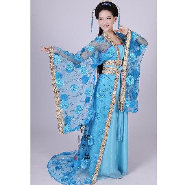 b51772193 women's flower yarn hanfu tang suit princess clothing ancient traditional  Chinese dance costumes