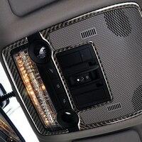 Carbon Fiber Auto Center Dashboard Speaker Cover Sticker for BMW E70 E71 X5 X6(2008 2013) Trim Stickers