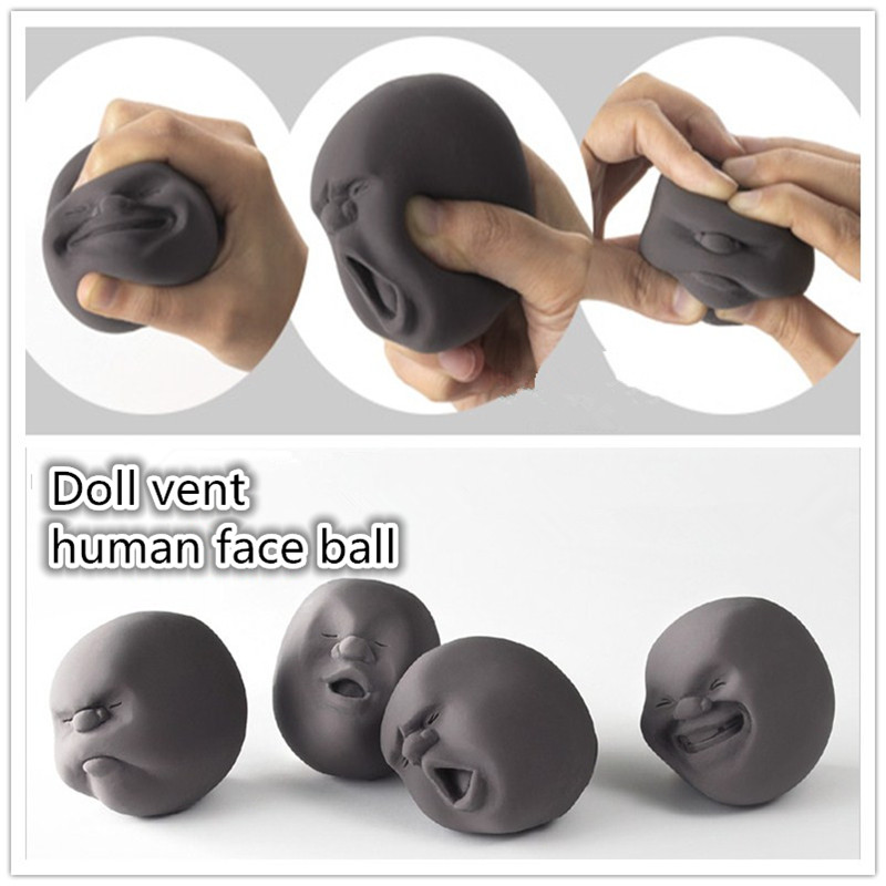 Anti-stress Human Face Stress Relieve Pressure Wreak Reduce Tool New Funny Toy Adult Relax Entertainment Gift [bainily]hot sale anti stress reliever ball toy resin relax doll stress relieve action figure novelty toys anti stress ball gift