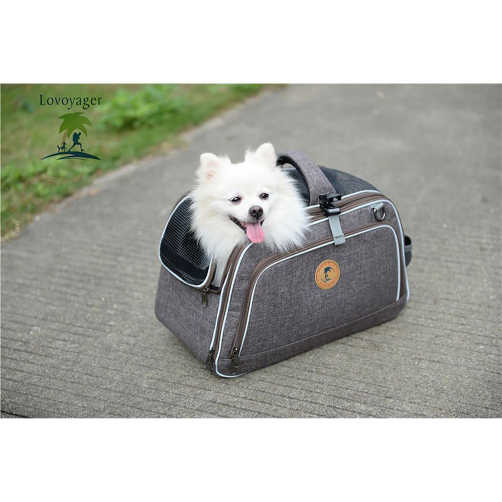 Доступны для ручки тележки складная сумка животное авиакомпании одобрил маленьких собак pet carrier